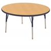 "ECR4Kids 30"" Round Table Maple/Navy -Standard Swivel"