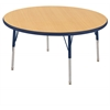 "30"" Round T-Mold Activity Table, Maple/Navy/Toddler Swivel"