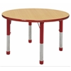 "30"" Round T-Mold Activity Table, Maple/Red/Chunky"