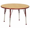"ECR4Kids 30"" Round Table Maple/Red -Standard Ball"