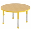 "ECR4Kids 30"" Round Table Maple/Yellow-Chunky"