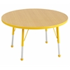 "ECR4Kids 30"" Round Table Maple/Yellow-Standard Ball"