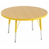 "30"" Round T-Mold Activity Table, Maple/Yellow/Standard Swivel"