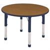 "ECR4Kids 30"" Round Table Oak/Navy-Chunky"