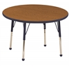 "30"" Round T-Mold Activity Table, Oak/Navy/Standard Ball"