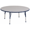 "60"" Round T-Mold Activity Table, Grey/Navy/Standard Ball"