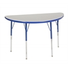 ECR4Kids Half Round Table Grey/Blue-Standard Swivel