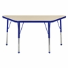 "ECR4Kids 24"" x 48"" Trap Table Maple/Blue -Toddler Ball"