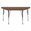 "ECR4Kids 24"" x 48"" Trap Table Oak/Navy-Toddler Ball"