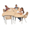 "48"" Bowtie Thermo-Fused Activity Table,  Maple/Black/Standard Swivel"