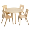 "ECR4Kids 30"" Round Bentwood Table with 16"" Legs"
