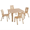 "ECR4Kids 30"" Square Bentwood Table with 16"" Legs"