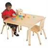 "ECR4Kids 30"" Square Bentwood Table with 20"" Legs"