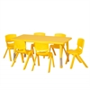 "48"" Rect Resin Table & 6x10"" Chairs - Yellow"