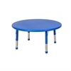 "ECR4Kids 45"" Round Resin Adjustable Activity Table, BL"