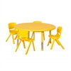 "45"" Round Resin Table & 4x12"" Chairs - Yellow"