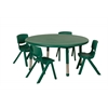 "45"" Round Resin Table & 4x14"" Chairs - Green"