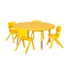 "45"" Round Resin Table & 4x16"" Chairs - Yellow"