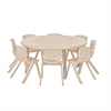 "ECR4Kids 45"" Round Resin Table & 8x10"" Chairs - Sand"