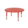 "ECR4Kids 45"" Round Resin Adjustable Activity Table, RD"
