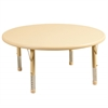 "ECR4Kids 45"" Round Resin Adjustable Activity Table, SD"