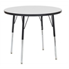 "36"" Round Dry-Erase Activity Table with Standard Leg/Swivel Glide"