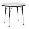 "36"" Round Dry-Erase Activity Table with Toddler Leg/Ball Glide"