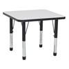 """30"""" Square Dry-Erase Activity Table with Chunky Leg"""