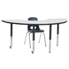 "36""x72"" Half Moon Dry-Erase Activity Table with Super Leg"