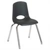 "ECR4Kids 18"" Stack Chair - Chrome w/ Swivel Glide - BK, set of 5"