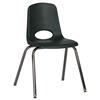 """ECR4Kids 18"""" Stack Chair - Chrome w/ Swivel Glide - HG, set of 5"""
