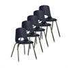 "18"" Stack Chair - Chrome w/ Swivel Glide - NV, set of 5"