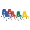 """ECR4Kids 12"""" Stack Chair - Matching Legs 6 Pc - ASG"""