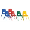 "ECR4Kids 14"" Stack Chair - Matching Legs 6 Pc - ASG"
