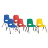 "ECR4Kids 12"" Stack Chair - Chrome Legs - 6 pc - AS"
