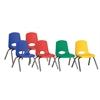 """ECR4Kids 12"""" Stack Chair - Chrome Legs-6pc-ASG"""
