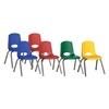 """ECR4Kids 14"""" Stack Chair - Chrome Legs-6pc-ASG"""