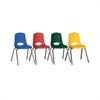 """ECR4Kids 16"""" Stack Chair-Chrome Legs-6pc-ASG"""