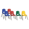 16in Stack Chair-6pc-PntG- ASG