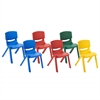 "ECR4Kids 10"" Assorted Resin Chair Pack, 6 Piece"