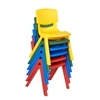 "16"" Assorted Resin Chair Pack, 6 Piece"