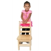 "ECR4Kids 10"" Three Rung Ladderback Chair - ASM, set of 2"
