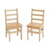 "14"" Three Rung Ladderback Chair - ASM, set of 2"