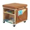 ECR4Kids Birch and Canvas Helpful Little Teacher Stool
