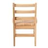 "12"" North American Oak Ladderback Chair, set of 2"