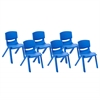 "10"" Resin School Stack Chair - Blue, set of 6"