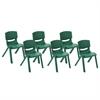 "ECR4Kids 10"" Resin School Stack Chair - Green, set of 6"