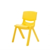 "10"" Resin School Stack Chair - Yellow, set of 6"