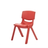 "12"" Resin School Stack Chair - Red, set of 6"