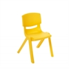 "12"" Resin School Stack Chair - Yellow, set of 6"